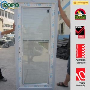 Veka Brand White Color PVC Door with Blinds Glass pictures & photos