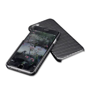 Professional Carbon Fiber PU Leather Back Case Cover for iPhone 6 6s pictures & photos