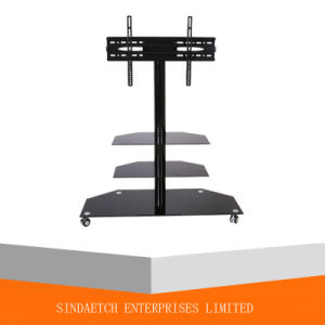 High Glossy Black Glass TV Stand in Living Room pictures & photos