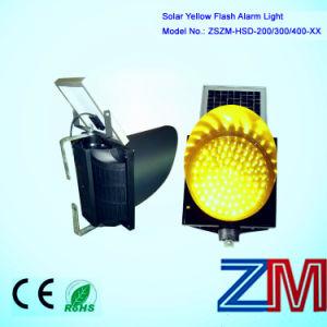 8 Inch Waterproof Solar Powered Traffic Flash Lamp / LED Yellow Flashing Warning Light pictures & photos