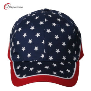 Red Navy Cotton Baseball Cap with Patriotic Stars (02051) pictures & photos
