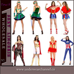 Wholesale Super Hero Fancy Dress Carnival Halloween Adult Costume (TLQZ2865A) pictures & photos