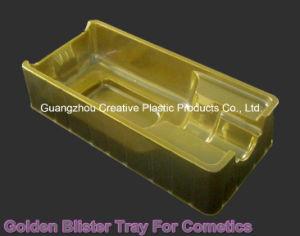 Golden PVC Blister Inner Tray for Cosmetics Packing