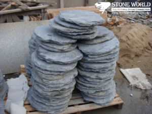 Round Grey Flagstone for Outside Garden Decoration (CS016) pictures & photos
