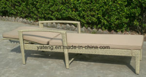 Cheap Outdoor Rattan Wicker Furniture Sun Bed (YT420) pictures & photos