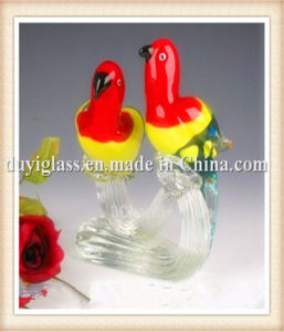 Animal Multicolour Parrot Glass Craft for Display