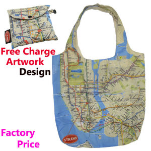 Nylon Foldable Shopping Bag with Map Printing pictures & photos