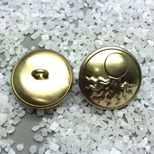 Custom Embossed Logo Metal Brass Shank Button pictures & photos