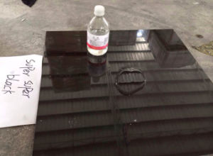 Slate Supper Black and White Porcelain Polished Tile (6SB50M) pictures & photos