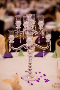 2 Arms Elegant Wedding Decorative Crystal Candleholder