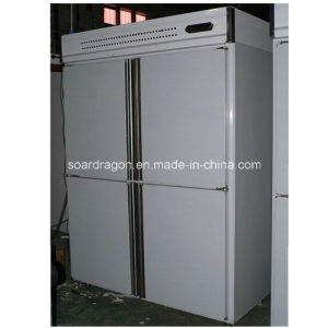 4 Doors Commercial Freezer CE Approved with Two Temperature pictures & photos