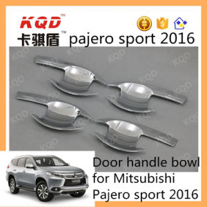 Hot Model ABS Chrome Auto Accessories Door Handle Bowl for Montero Sport for Mitsubishi Insert Handle Door Cover Pajero Sport 2016