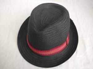 Paper Braid Sewn Braid Fedora Straw Hat