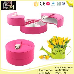 Foldable Black Round Combined Jewelry Box (1197) pictures & photos
