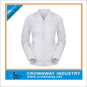 China Wholesale Women Golf Jackets, White Waterproof Jackets pictures & photos