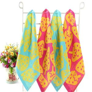 Wholesale 100%Cotton Baby Jacquard Face Towel pictures & photos