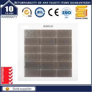Grey Strip Crystal Glass Mosaic GS80316 pictures & photos