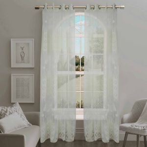 Jacquard Sheer Grommet Panel Window Curtain (HR14WT080) pictures & photos