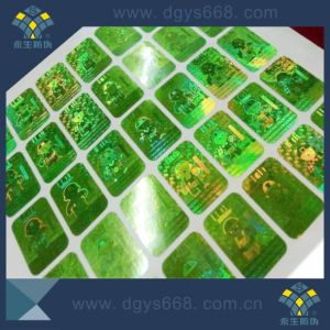 Anti-Counterfeiting 3D Custom Laser Hologram Sticker Label with Company Logo pictures & photos