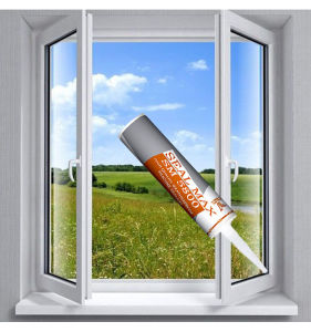 Weather Resist Neutral Silicone Sealant Glass Glue