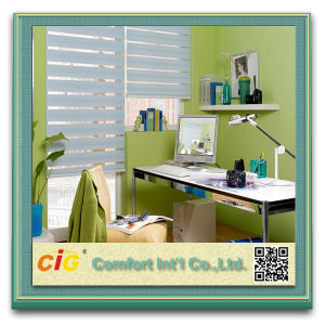 High Quality Zebra Blind Sheer Screen Printed Window Shade Roller pictures & photos