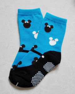 Baby′s 100 Cotton Loose Cuff Anti-Slip Baby Lace Socks pictures & photos