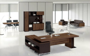 High Quality Modern Wooden Boss Office Desk (HF-TWB118) pictures & photos