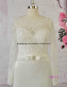 2016 Long Sleeves Satin Wedding Bridal Gowns Beaded Lace pictures & photos