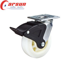 5inches Heavy Duty Swivel Nylon Wheel Caster (with side brake) pictures & photos