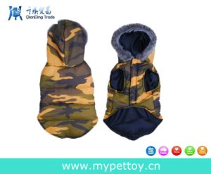 Hansome Dog Clothes Camo Hoodie Warm Vest pictures & photos