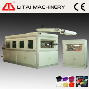 Servo Motor Control Ice Cream Cup Cover Lid Thermoforming Machine pictures & photos