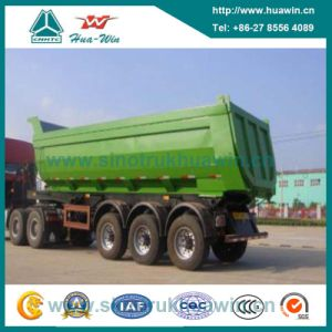 Three Axle Hydraulic Cylinder Dump Semi Trailer pictures & photos