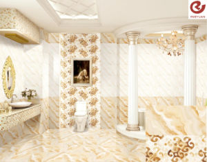 Competive Price Light Beige Color Inkjet Ceramic Wall Tile Building Material (WR63J450)