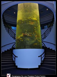 High Quality Acrylic Cylinder Fish Tank pictures & photos