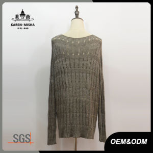 Women Fashion Round Neck Fall Sweater pictures & photos