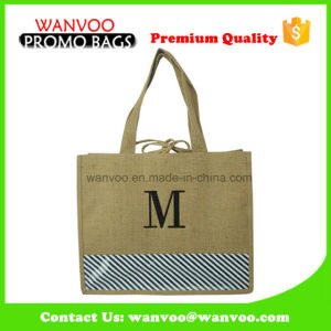 Wholesale Jute Grocery Tote Bag with Drawstring pictures & photos