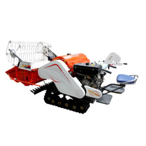 Blue Color Mini Combine Harvester with 1.2m Cutting Width Gy4l-1.0II