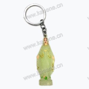 Promotion Luminous St Benedict Statue Keychain Metal