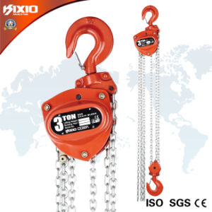Kixio 3 Ton Manual Construction Hoist with Hook pictures & photos
