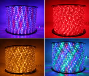Round Two Wirescolorful 36LEDs 2.2W/M LED Rope Light/Outdoor Light/LED Strip Light/Neon Light/Christmas Light/Holiday Light/Hotel Light/Bar Light LED Strip pictures & photos