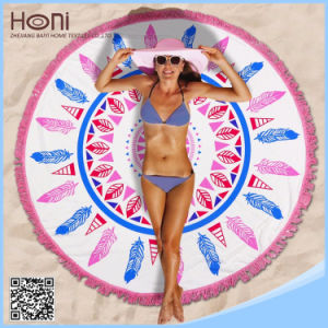 Cheap Price Microfiber Round Beach Towel Soft High Quality Round Beach Towel pictures & photos