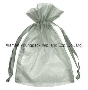 Wholesale Bulk Cheap Small Silver Organza Wedding Favor Bags pictures & photos