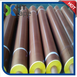 Heat Resistant PTFE Teflon Cloth Tape with Yellow Liner pictures & photos