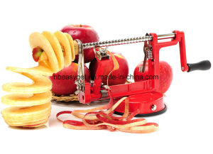 Apple Peeler Corer Slicer Machine with Vacuum Suction Base - Cast Iron Rotating Spiralizer Apple Peeler for Countertop with Stainless Steel Blades Esg10159 pictures & photos