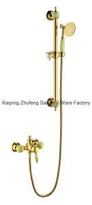 New Design Single Handle Zf-709 Jade Brass Shower Set pictures & photos