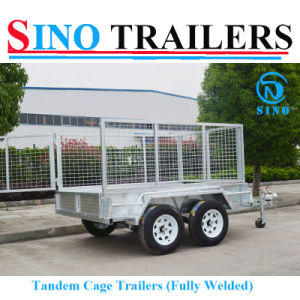 10X6 Dual Axle Fully Welded Tandem Cage Trailer pictures & photos
