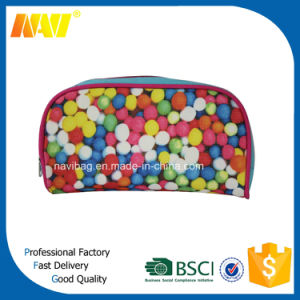 High Quality Full Colors Canvas Sublimation Cosmetic Bag