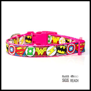 Cartoon Woven Ribbon Nylon Pet Dog Puppy Collar pictures & photos