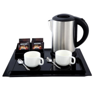 Hospitality Stainless Steel Electric Kettle with Welcome Tray pictures & photos