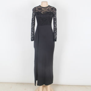 Top and Super Brand OEM Services New Arrivals Hot Slae Popular Split Maxi Evening Dress pictures & photos